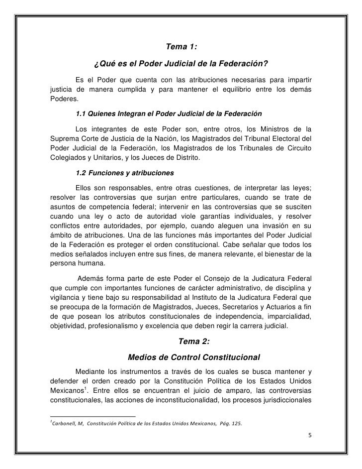 """Ensayo """"El Poder Judicial de la Federación"""""""