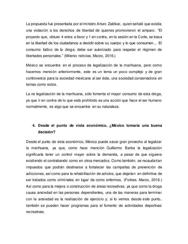 Legalización De La Marihuana Ensayo