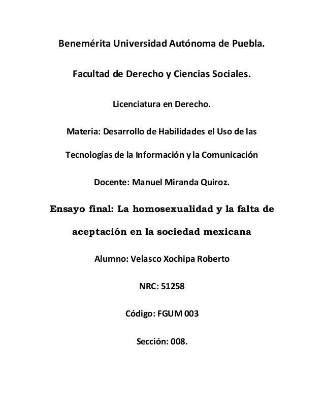 Benemérita Universidad Autónoma de Puebla. Facultad de Derecho y Ciencias Sociales. Licenciatura en Derecho. Materia: Desa...