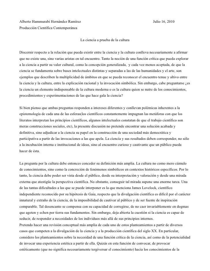 Alberto Hammurabi Hernández Ramírez                                                          Julio 16, 2010 Producción Cie...