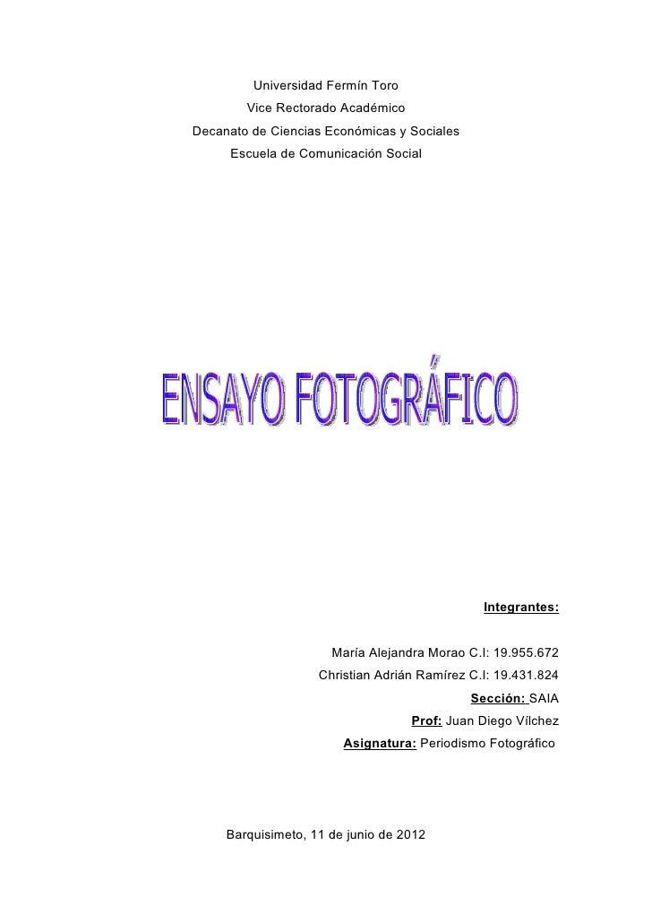 Universidad Fermín Toro        Vice Rectorado AcadémicoDecanato de Ciencias Económicas y Sociales     Escuela de Comunicac...