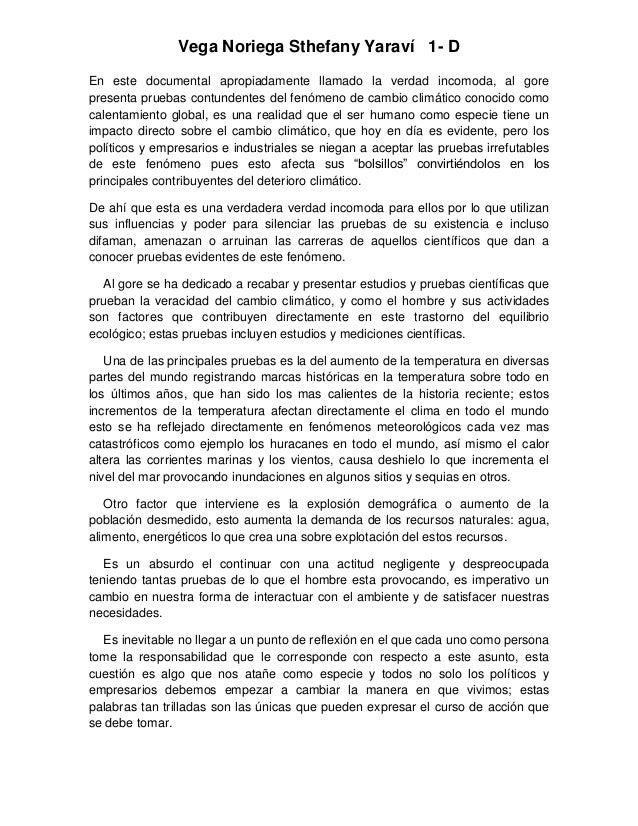 Vega Noriega Sthefany Yaraví 1- DEn este documental apropiadamente llamado la verdad incomoda, al gorepresenta pruebas con...