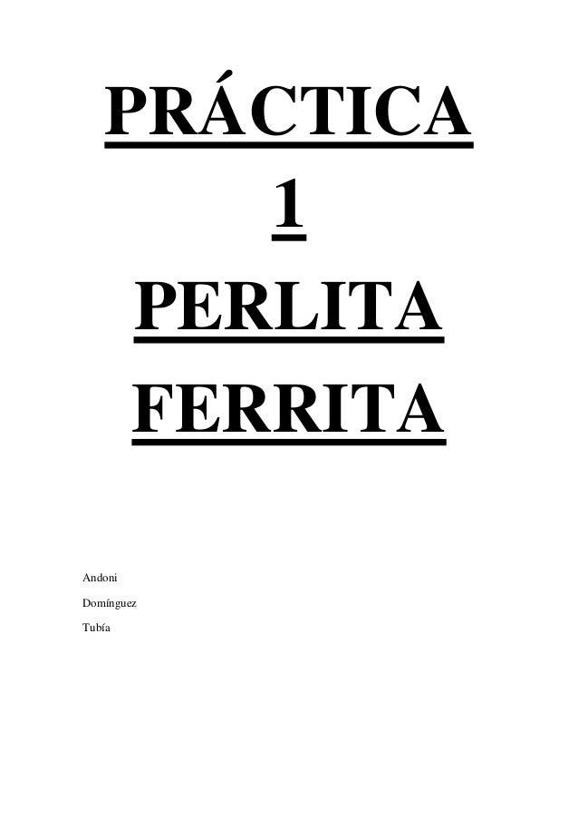 PRÁCTICA        1     PERLITA     FERRITAAndoniDomínguezTubía