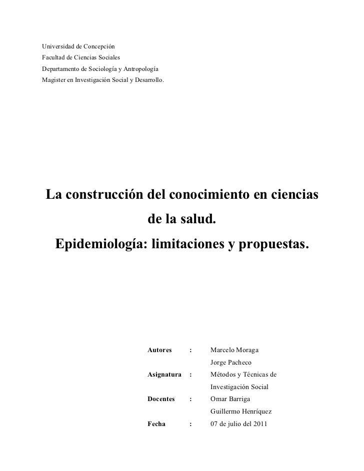 Universidad de ConcepciónFacultad de Ciencias SocialesDepartamento de Sociología y AntropologíaMagister en Investigación S...