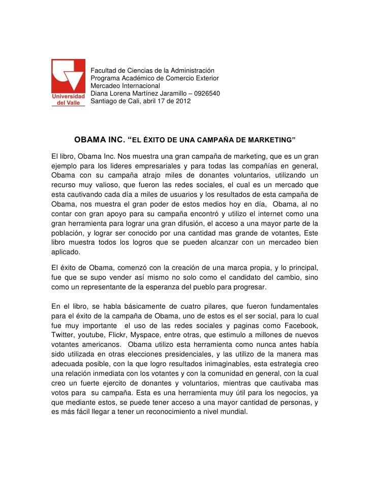 Facultad de Ciencias de la Administración            Programa Académico de Comercio Exterior            Mercadeo Internaci...