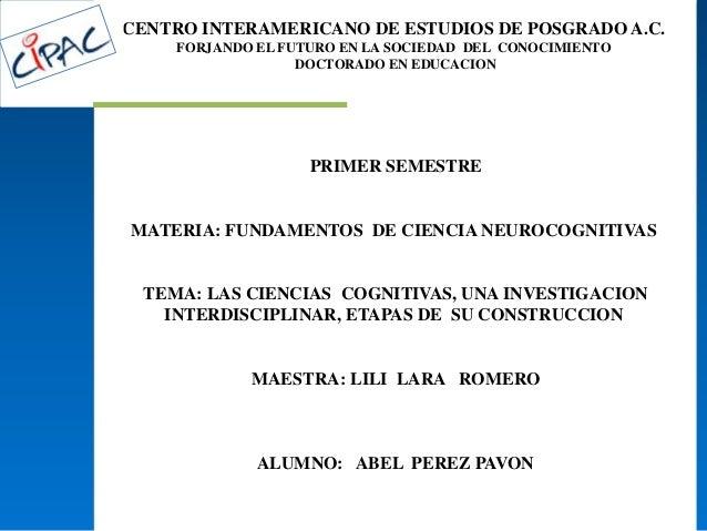 CENTRO INTERAMERICANO DE ESTUDIOS DE POSGRADO A.C.FORJANDO EL FUTURO EN LA SOCIEDAD DEL CONOCIMIENTODOCTORADO EN EDUCACION...