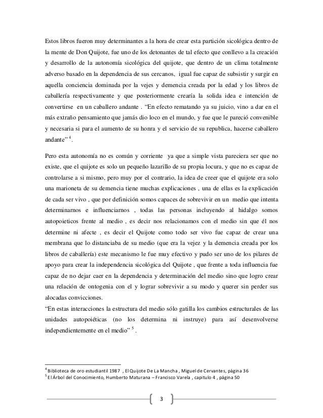 Ensayo Quijote De La Mancha