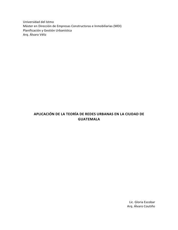 Universidad del IstmoMáster en Dirección de Empresas Constructoras e Inmobiliarias (MDI)Planificación y Gestión Urbanístic...