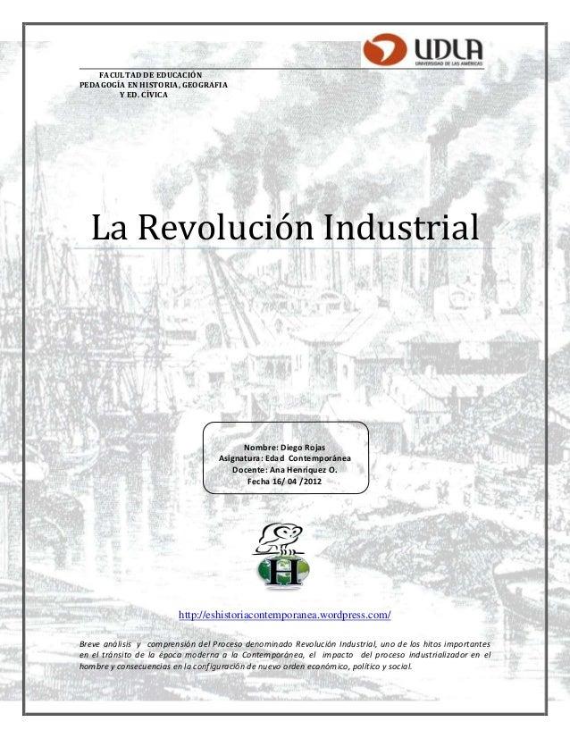 Ensayo revolución industrial