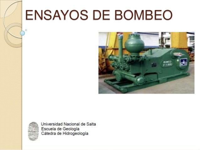 ENSAYOS DE BOMBEO