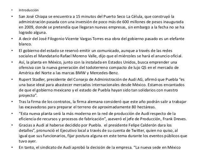 •   Introducción•   San José Chiapa se encuentra a 15 minutos del Puerto Seco La Célula, que construyó la    administració...