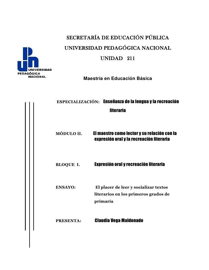 SECRETARÍA DE EDUCACIÓN PÚBLICA<br />-48704552705UNIVERSIDAD PEDAGÓGICA NACIONAL<br />UNIDAD   211<br />Maestría en Educac...