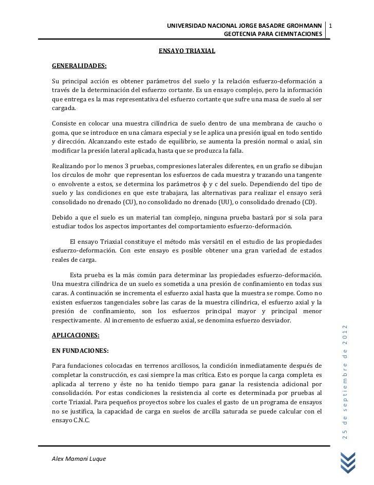 UNIVERSIDAD NACIONAL JORGE BASADRE GROHMANN 1                                                         GEOTECNIA PARA CIEMN...