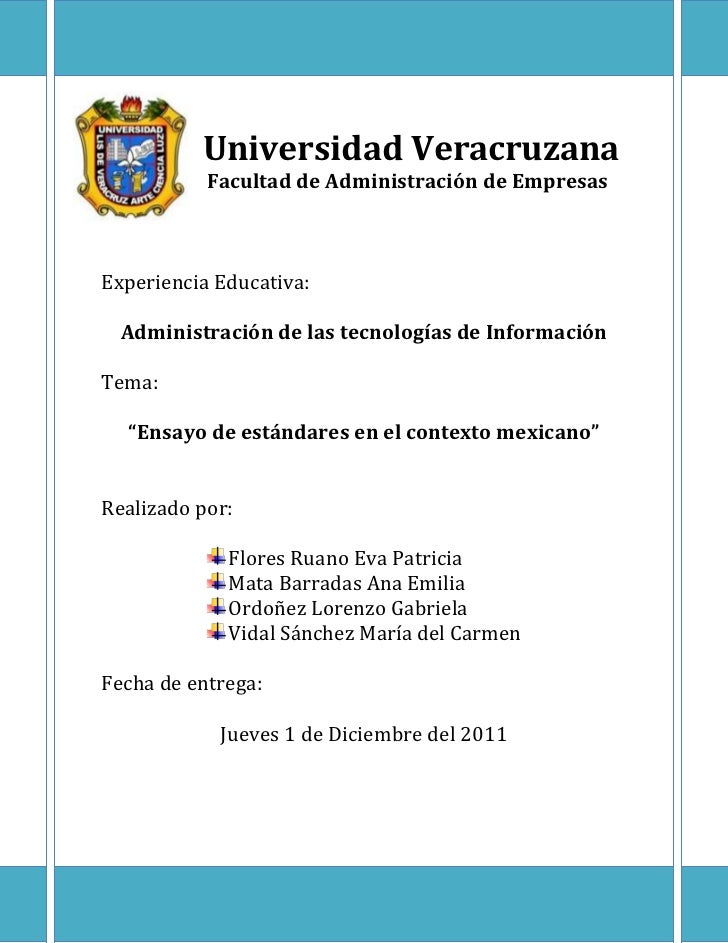 Universidad Veracruzana           Facultad de Administración de EmpresasExperiencia Educativa:  Administración de las tecn...