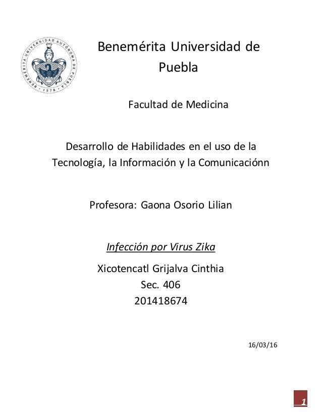 1 Benemérita Universidad de Puebla Facultad de Medicina Desarrollo de Habilidades en el uso de la Tecnología, la Informaci...