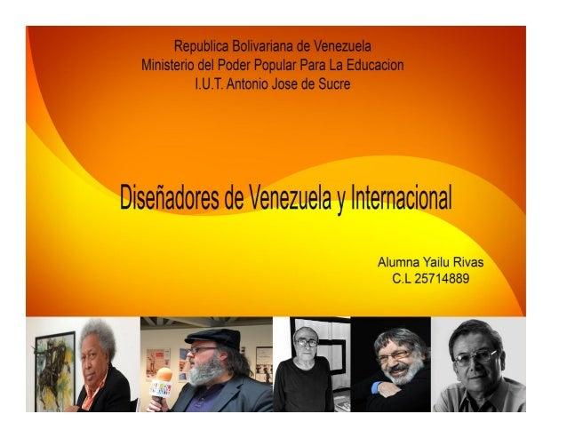 Diseñadores Nacionales y Internacionales