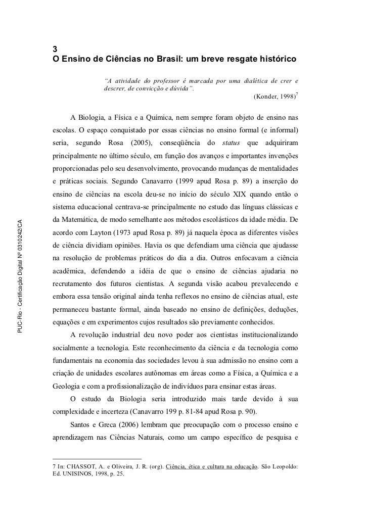 3                                               O Ensino de Ciências no Brasil: um breve resgate histórico                ...