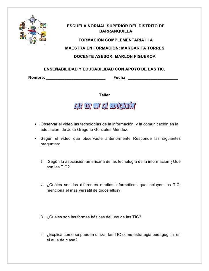 ESCUELA NORMAL SUPERIOR DEL DISTRITO DE                                    BARRANQUILLA                                  F...