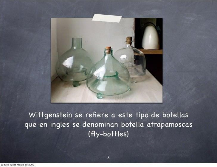 Enseñando a la mosca la salida de la botella (presentación en formato pizarra)