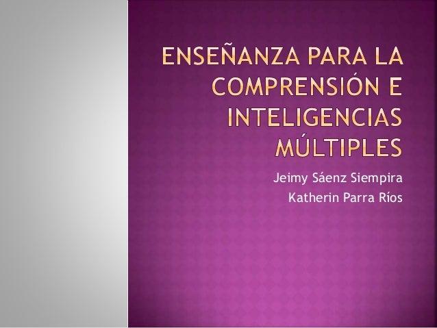 Jeimy Sáenz Siempira Katherin Parra Ríos
