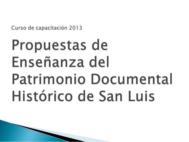 IFDC San LuisArchivo Histórico de laProvincia de San Luis