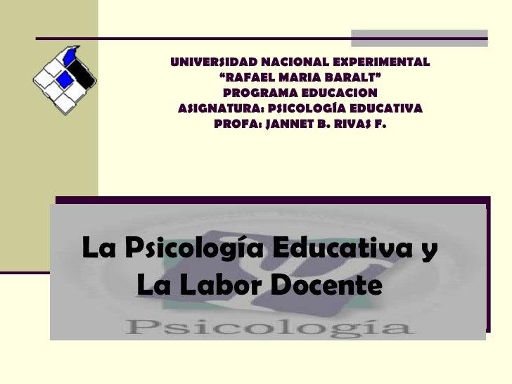 "UNIVERSIDAD NACIONAL EXPERIMENTAL              ""RAFAEL MARIA BARALT""               PROGRAMA EDUCACION        ASIGNATURA: P..."