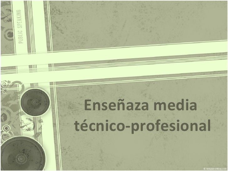 Enseñaza media  técnico-profesional