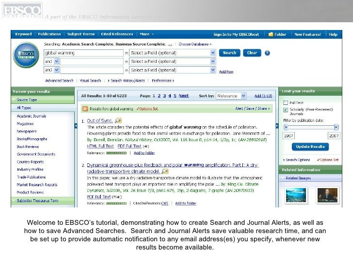 Research Databases | EBSCO