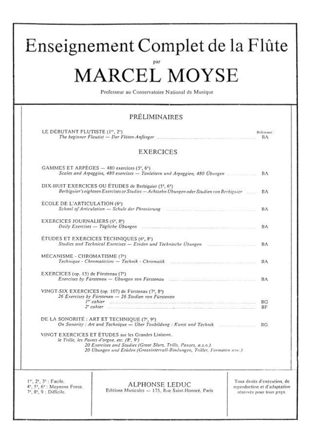 Enseignement complet de la flûte   marcel moyse