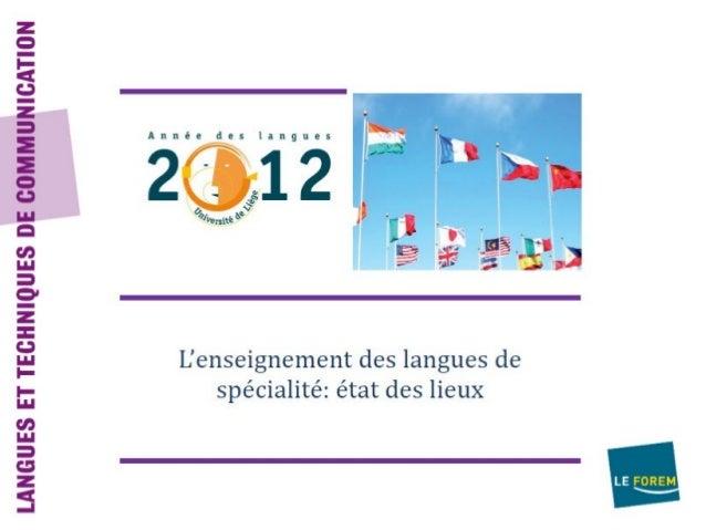 DEPARTEMENT DES LANGUES- Langues: néerlandais, anglais, allemand,luxembourgeois- Centres de formation: 25- Nombre de forma...