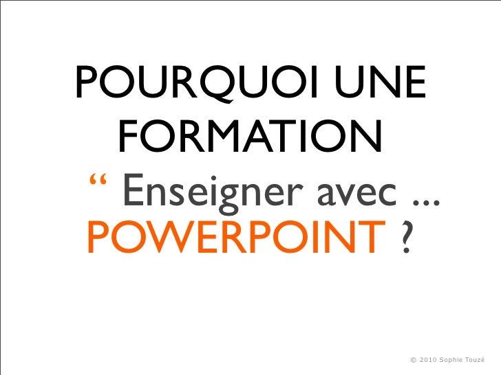 Enseigner avec Powerpoint Slide 2