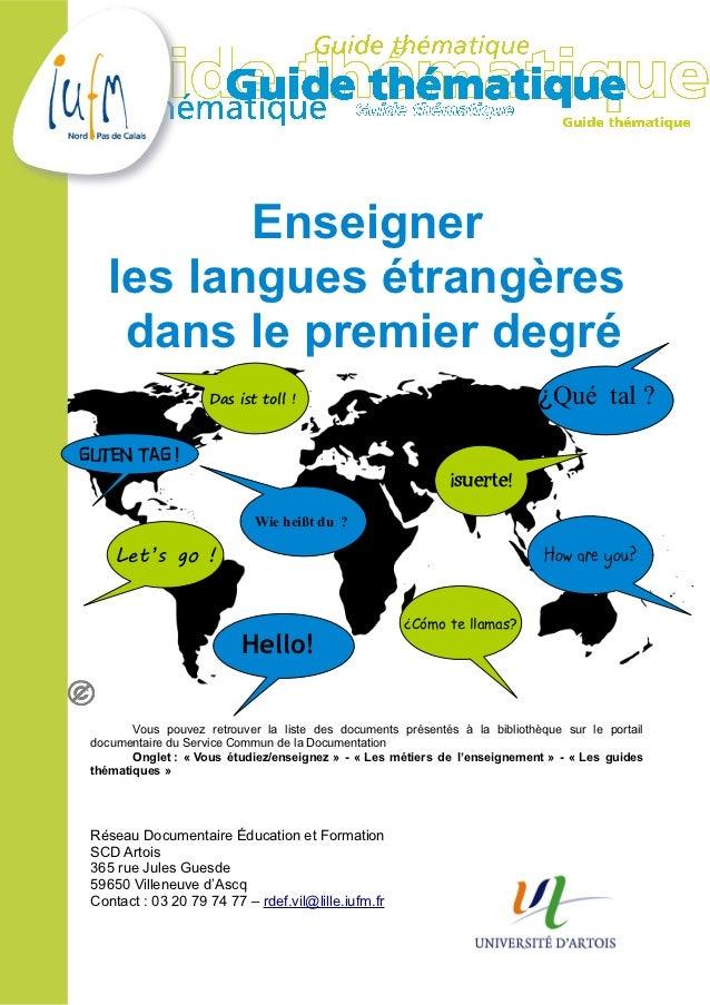 Enseigner    les langues étrangères     dans le premier degré                     Das ist toll !                          ...