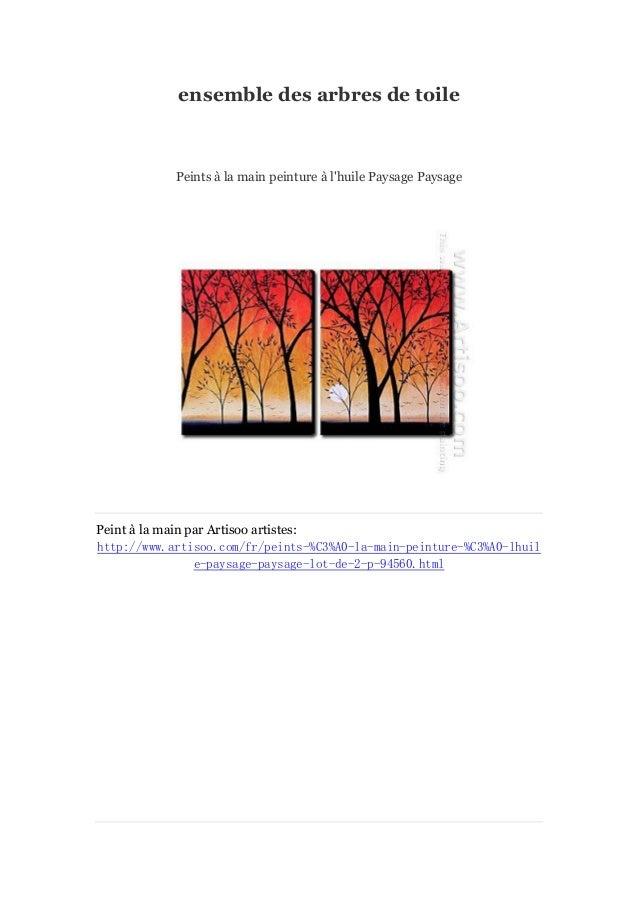 ensemble des arbres de toile  Peints à main peinture à la l'huile Paysage Paysage  Peint à main par Artisoo artistes: la h...