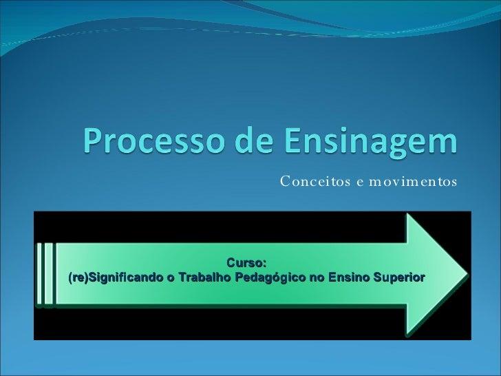 Conceitos e movimentos Curso: (re)Significando o Trabalho Pedagógico no Ensino Superior