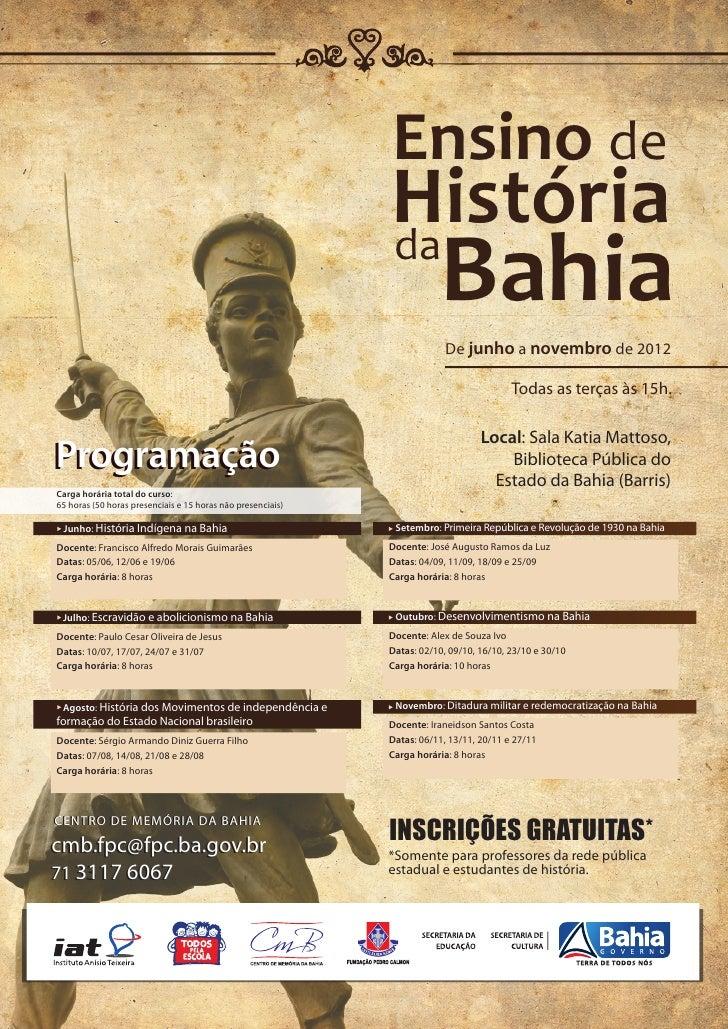 Ensino de                                                             História                                            ...