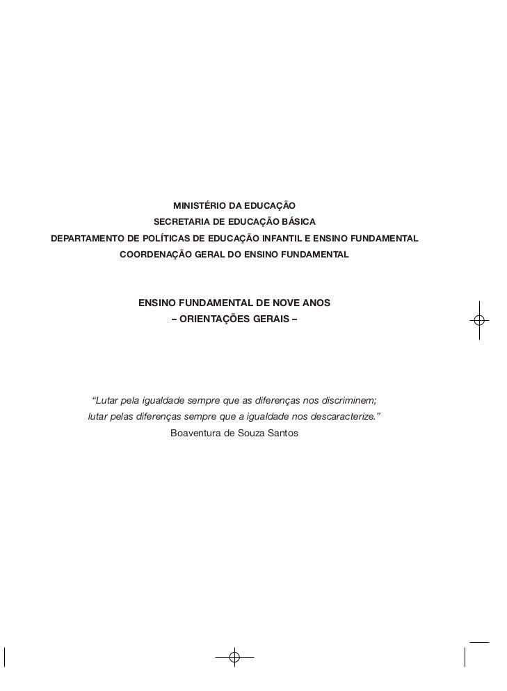 MINISTÉRIO DA EDUCAÇÃO                    SECRETARIA DE EDUCAÇÃO BÁSICADEPARTAMENTO DE POLÍTICAS DE EDUCAÇÃO INFANTIL E EN...