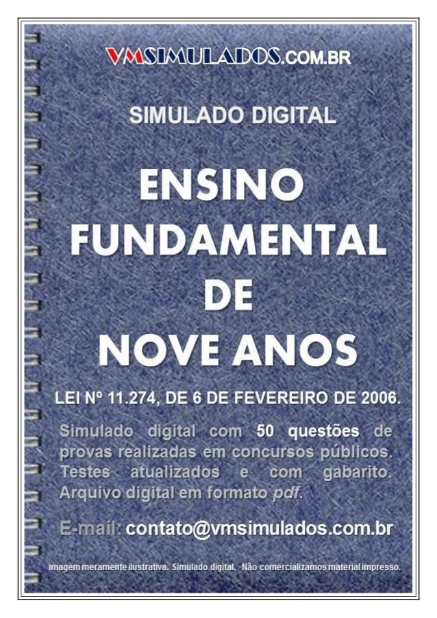 VMSIMULADOSENSINO FUNDAMENTAL DE NOVE ANOS   contato@vmsimulados.com.br   VMSIMULADOS.COM.BR   1