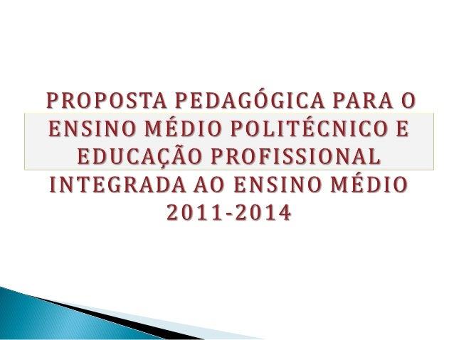 A proposta de reestruturação do EnsinoMédio, contida neste documento-base, foiconstruída levando-se em consideração oPlano...