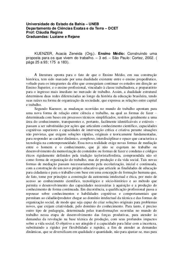 Universidade do Estado da Bahia – UNEB Departamento de Ciências Exatas e da Terra – DCET Prof: Cláudia Regina Graduandas: ...