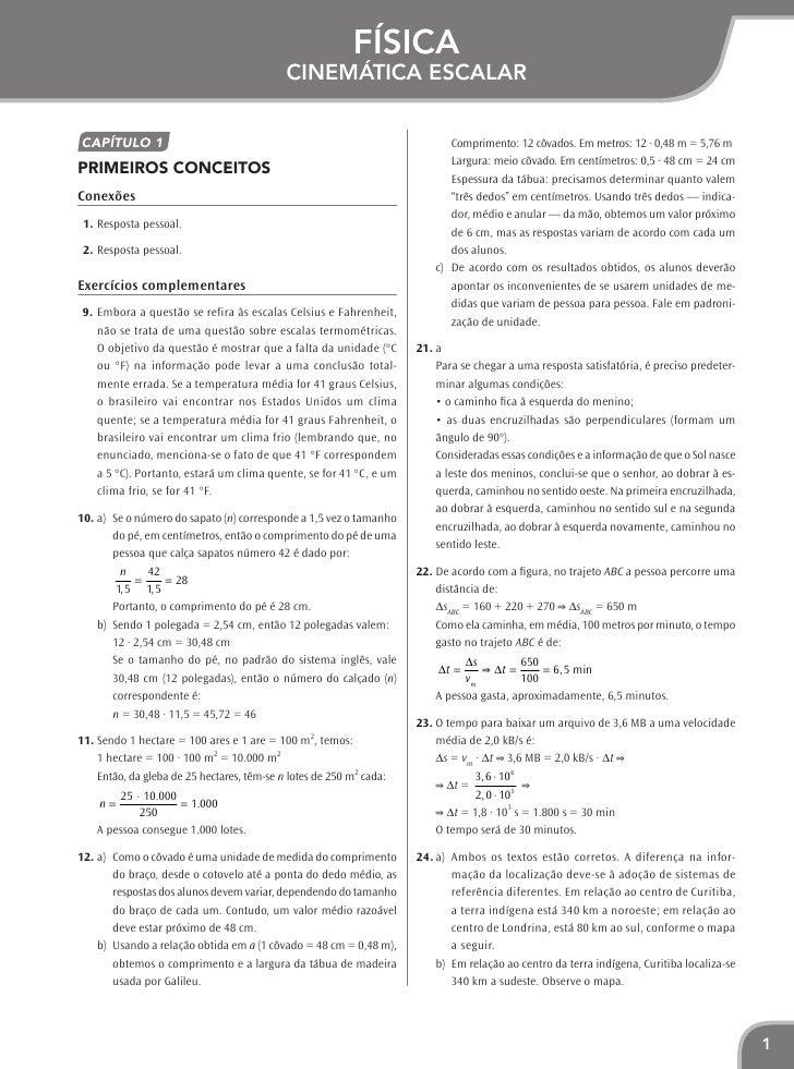 Física                                           Cinemática escalarCapítulo 1                                             ...