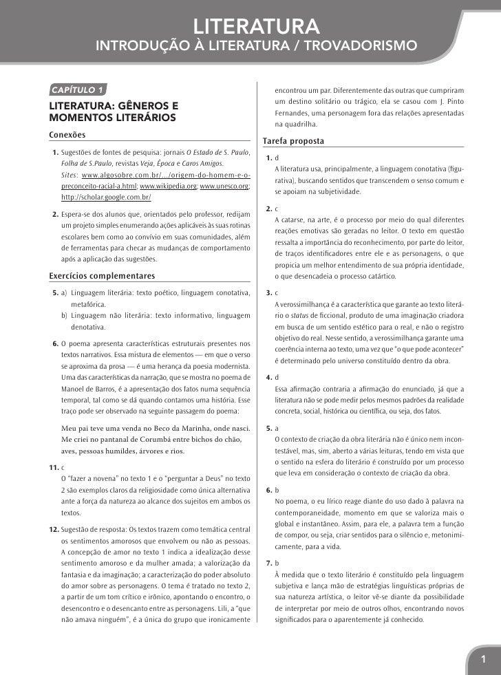 literatura               Introdução à literatura / TrovadorismoCapítulo 1                                                 ...