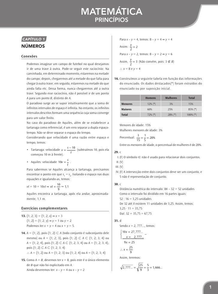 Matemática                                                           Princípios    Capítulo 1                             ...
