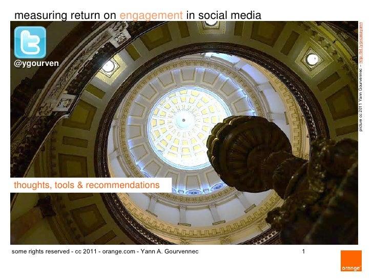 measuring return on engagement in social media                                                                       pictu...