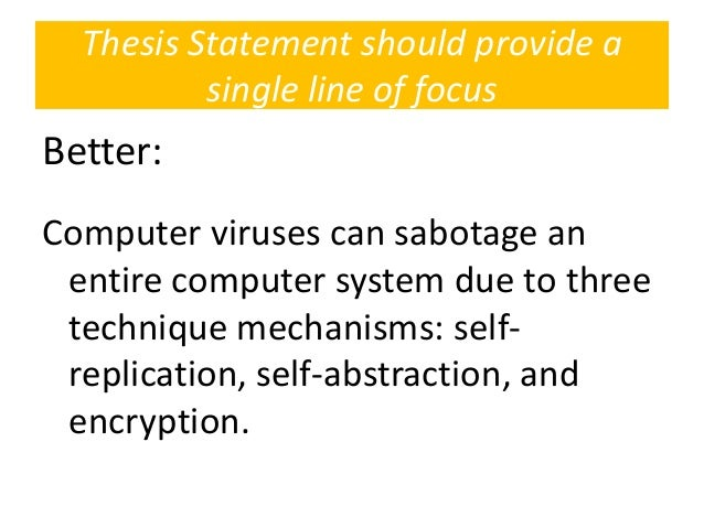 thesis statement computer virus
