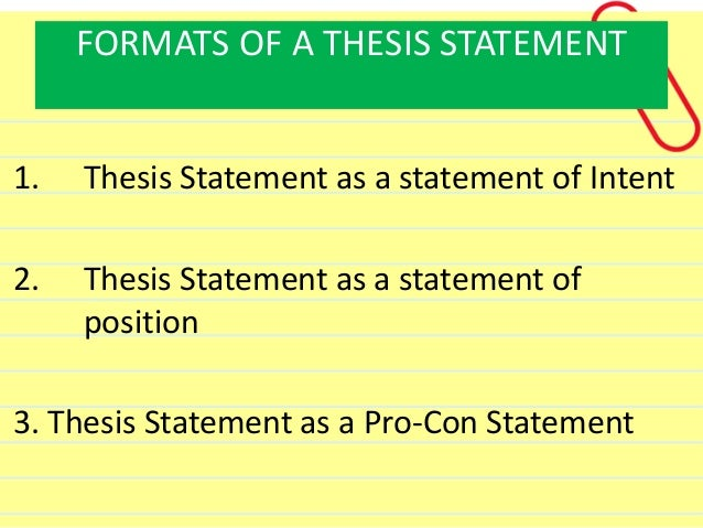 pros and cons thesis statement examples