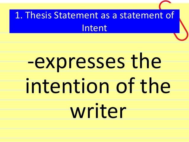 ENSP703 Thesis Statement