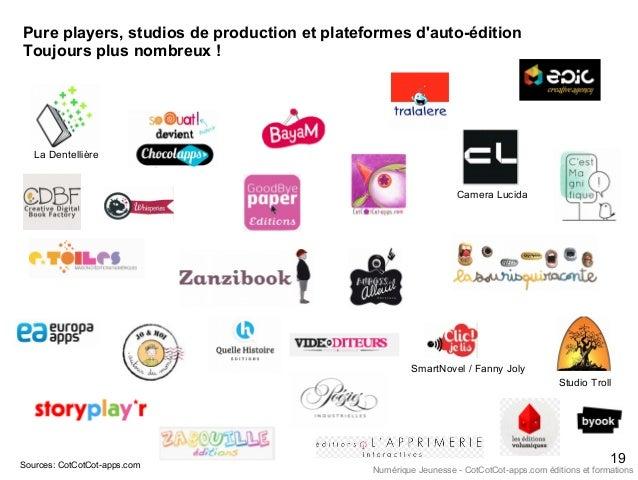 Pure players, studios de production et plateformes d'auto-édition Toujours plus nombreux ! Sources: CotCotCot-apps.com Cam...