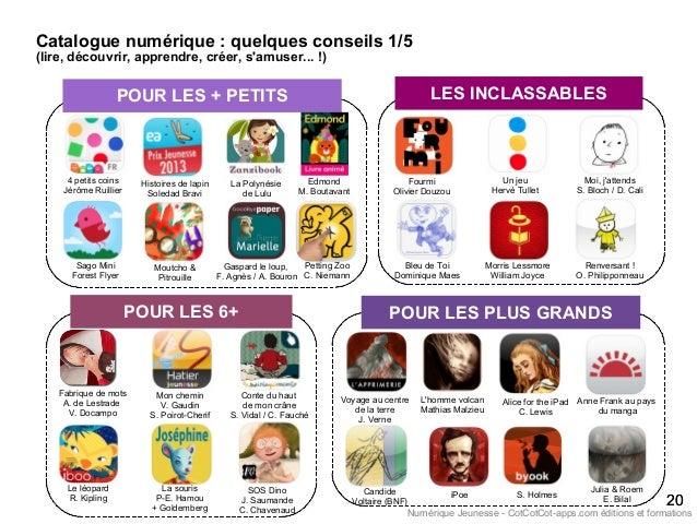 Catalogue numérique : quelques conseils 1/5 (lire, découvrir, apprendre, créer, s'amuser... !) 2020 POUR LES + PETITS 4 pe...