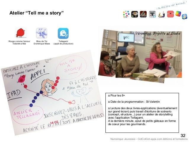 """Atelier """"Tell me a story"""" 3232 Numérique Jeunesse - CotCotCot-apps.com éditions et formations Rouge comme l'amour Valentin..."""