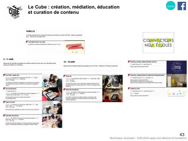 Le Cube : création, médiation, éducation et curation de contenu 43 www Numérique Jeunesse - CotCotCot-apps.com éditions et...